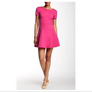 Halston Heritage Mini Fit & Flare Dress
